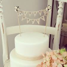 Shabby Chic Wedding Cake Toppers