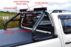 To Fit 2016+ VW Amarok Roll Bar + LEDs + Brake Light + LED Bars + ...
