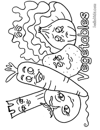 Vegetable Coloring Pages Within Vegetables