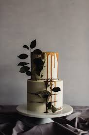 Rustic Wedding Cake With Caramel Drip
