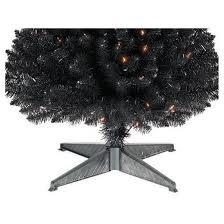 6ft Slim Black Christmas Tree by 6ft Prelit Artificial Christmas Tree Black Alberta Spruce Clear
