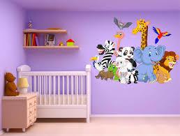 sticker chambre bébé stickers muraux enfant animaux réf 15237 stickers muraux enfant