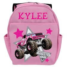 Monster Jam Madusa Pink Youth Backpack | Tv's Toy Box