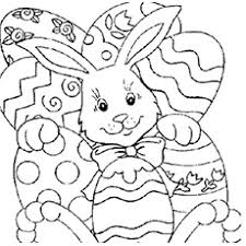 Colorful Easter Coloring Pages For Elegant Kids