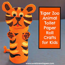 Tiger Zoo Animal Toilet Paper Roll Crafts For Kids 2