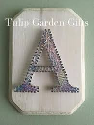 String Art Letter Plaque By Tulip Garden Gifts
