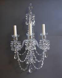 antique chandelier style 3 candles lighting wall sconce