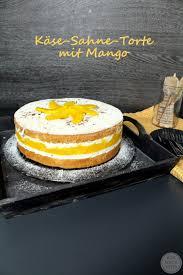 fruchtige käse sahne torte mit mango wonderful pieces