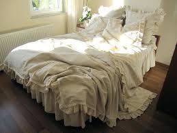Cream Bed Skirt King Linen Full coccinelleshow