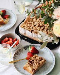 food kuchengenuss auf meinem teller veganer erdbeer