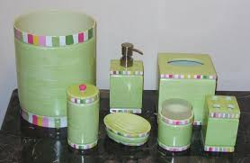 Pottery Barn Bathroom Accessories by Details About New Pottery Barn Multistripe Bath Accessories Green