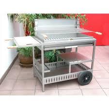 fabriquer cheminee allumage barbecue le modèle iholdy inox avec chariot le barbecue charbon de bois le
