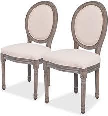 vidaxl 2x esszimmerstuhl leinenbezug küchenstuhl polsterstuhl stuhl hochlehner