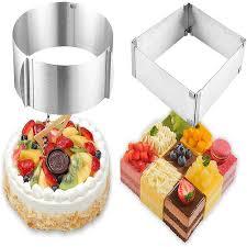 einstellbar kuchen form ring 2 teiliges set 6 12 zoll