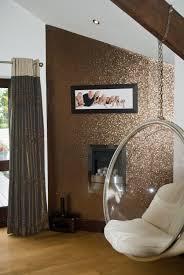 Room Ideas Glitter Wallpaper Bronze