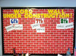 Middle School Classroom Walls