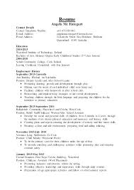 Child Care Resume Objective Examples For Childcare Contact Details Telephone Number 0 E