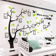 wandtattoo baum 3d diy wandaufkleber sticker mit bilderrahmen foto baum wandsticker wanddeko deko für hause kinderzimmer wohnzimmer schlafzimmer l