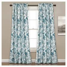 Lush Decor Window Curtains by Cynthia Jacobean Room Darkening Window Curtain Blue 52