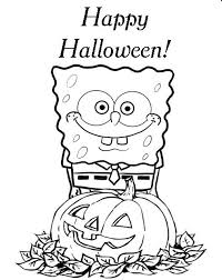Spongebob Printable Halloween Coloring Pages