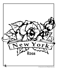 State Flower Coloring Pages New York Page Classroom Jr