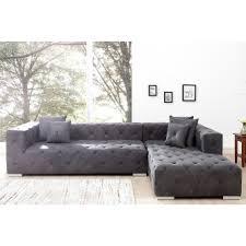 canapé matelassé canapé d angle design matelassée gris 290 cm