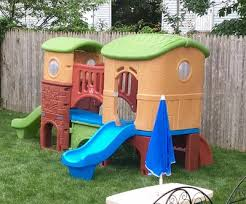 Step2 Playhouses Slides U0026 Climbers by Step2 Naturally Playful Clubhouse Climber With Two Slides
