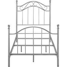 Twin Metal Canopy Bed Pewter With Curtains by Mainstays Twin Metal Bed Walmart Com