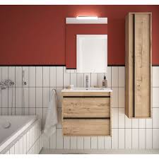 badezimmer badmöbel 60 cm nevada aus eiche ostippo holz mit porzellan waschtisch 60 cm standard