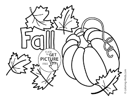 Autumn Coloring Pages With Pumpkin For Kids Seasons Printable Free