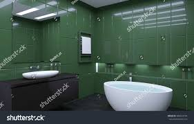 100 Bachlor Apartment Bathroom Lonely Bachelor 3 D Visualization Stock