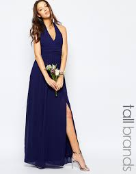 76 24 image 1 of tfnc wedding tall halter neck chiffon maxi dress