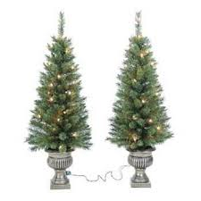 St Nicholas Square 2 Pc 3 1 Ft Potted Pre Lit Christmas Tree Inspiration Of