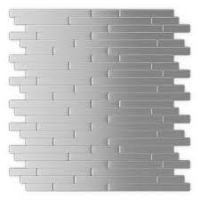 Metal Adhesive Backsplash Tiles by Inoxia Speedtiles Linox 11 88 In X 12 In Self Adhesive