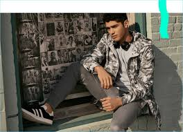 Embracing An Urban Appeal Torin Verdone Wears Zanerobe He Sports A Camouflage Anorak