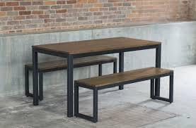 west elm industrial oak steel dining table set decor look alikes