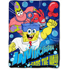 Spongebob Halloween Dvd Walmart by Spongebob Movie U0027mr Awesome U0027 Twin Full Bedding Comforter