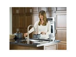 Moen 90 Degree Faucet Kitchen by Faucet Com 7594srs In Spot Resist Stainless By Moen