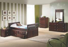 espresso full size captain s bed with trundle storage dream