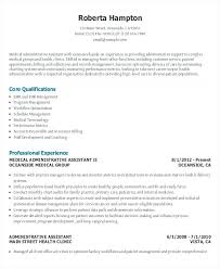 Examples Of Office Assistant Resumes Medical Executive Administrative Resume Sample Canada