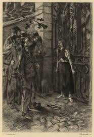 Eponine stopping robbery at Valjern s place Ponine
