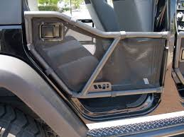 Warrior Products Rear Tube Door Mesh Covers for 07 18 Jeep