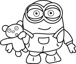 Free Minion Coloring Page Printable Download Printables