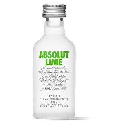 Absolut Vodka, Lime - 50 ml