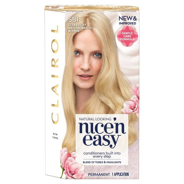 Clairol Nice 'n Easy Permanent Hair Dye - SB1 Ultra Light Natural Beach Blonde