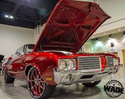 Whips By Wade: Candy Brandywine 1972 Oldsmobile Cutlass On 22