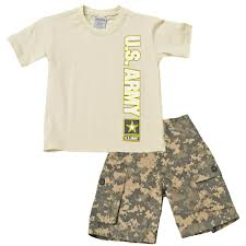 Army Camo Bathroom Set by Trooper Clothing Little Boys Boys 2 Pc Army Shirt And Camouflage
