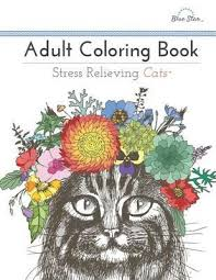 Adult Coloring Book Stress Relieving Cats Artists 9781941325209