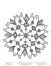 Snowflake Coloring Pages Printable Shapes