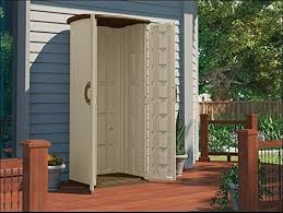 Outdoor Storage Cabinet Patio Vertical Utility Shed Balcony